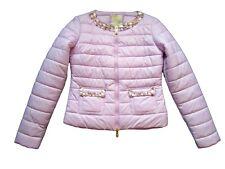 PINKO Italy Women's Purple Jewel Embellished Fashion Quilted Jacket sz S UK10