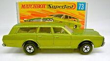 MATCHBOX SF N. 73a Mercury STATION WAGON grünmet. larghezza ruote TOP IN BOX