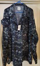 USGI US Navy Type 1 NWU Shirt / Blouse - XXL - XX-LONG - NWT - Digital Blue