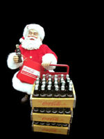 Coca-Cola Handcrafted Kurt S Adler Fabriche Santa with Delivery Cart - 2015