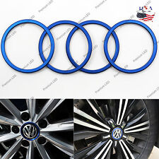 Blue Car wheel Center Logo Decoration Ring Covers for VW VOLKSWAGEN tiguan L