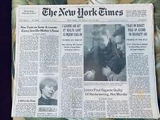 Vincent Gigante  Conviction New York Times Mafia Collectible
