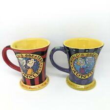 Set of 2 Auntie & Uncle Xpressions Gift Co Mugs Cups Tea Coffee VGC