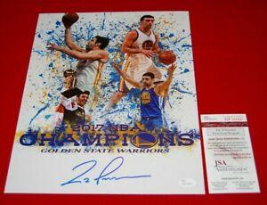 ZAZA PACHULIA Golden State Warriors signed 11x14 JSA witness COA