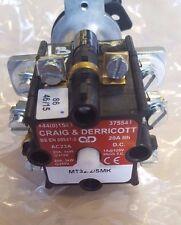 Craig & Derricott MT32/2/SMK MR Rotary Switch 20A 2 Position 1/2 Triple Pole