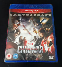 *BRAND NEW* Marvel Captain America: Civil War (BLU RAY 3D + 2D)