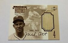 Mel Ott - 1999 Upper Deck A Piece of History 500 HR Club Game Used Bat