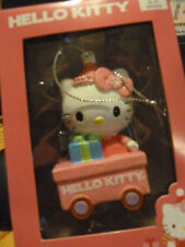 "New in Box - ""Hello Kitty"" Christmas Ornament - Riding in Wagon - Kurt Adler Tre"