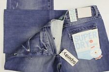 Superdry loose blue jeans W26 L30 new with tags