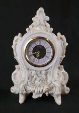 GERMAN PORCELAIN MANTLE CLOCK  by ROBIN