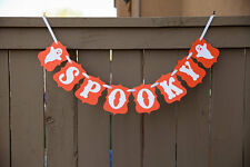 "Halloween ""Spooky"" Banner, Halloween Party Decorations, US Seller"