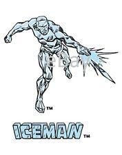 Vintage Marvel Style Guide Print - X-MEN ICEMAN Bobby Drake