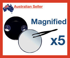 Round 5x Magnification Suction Mirror/Tweezers Mini Magnified Compact handheld