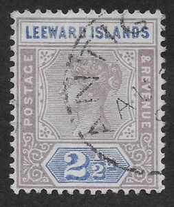 Leeward Islands 1890 21/2 P Queen Victoria (IBX)