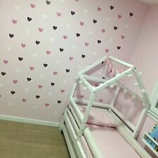 Heart Wall Sticker For Kids Room Baby Girl Room Decorative Stickers Nursery Bed