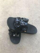 Women's Tory Burch Black Flower Blossom Sandal Size 8