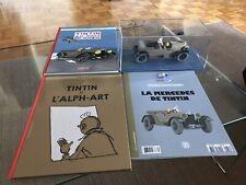 Lot Voiture tintin 1/24 La Mercedes Avec 2 Bd Neuves Tintin Et 2 Bd Lucky Luke