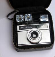 📸 Agfa Iso-Rapid 1c Kamera & ORWO UN54 Film & flashcube & Tasche • Retro Analog