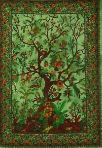 Tree Of Life Floral Beach Wall Hanging Hippie Tapestry Cotton Poster Decor New