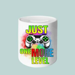 Just One More Level Money Box, 11oz Money Box, gifts for everyone, Gamer