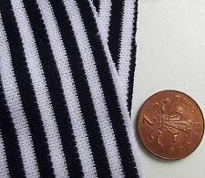 NAVY BLUE E BIANCA A RIGHE STOFFA ABITO VINTAGE materiale tubolare Knit SAILOR Suit