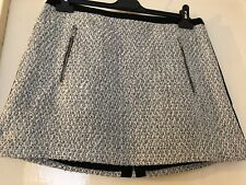 Topshop glittery knitted mini skirt with zip back size 10 14 16