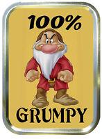 100% Grumpy 2oz Gold Tobacco Tin, Airtight Tobacco Tin, Gift Box