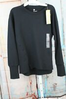 WOMEN'S FRENCH TERRY CREWNECK PULLOVER BLACK  S - ALL IN MOTION NEW W/ TAG