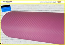 film vinyle carbone 3D rose thermoformable sticker adhésif covering 152cm x 20cm