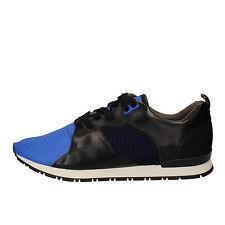 scarpe uomo D.A.T.E. (date) 43 EU sneakers nero blu tessuto pelle AE534-43