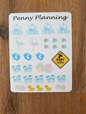 Baby Boy mixed sticker sheet for planner decoration