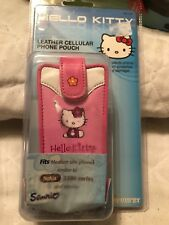 Hello Kitty Leather Cellular Phone Pouch Nokia 3300 Series & Smaller Vintage