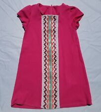 Gymboree Wild For Horses Dress Size 6 Pink Sequins Embroidered Girls