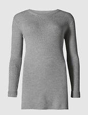 Marks and Spencer Women's Wool Blend Hip Length Jumpers & Cardigans