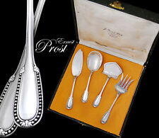 Boxed French Sterling Silver 4pc Hors d'Oeuvre Set - E. Prost