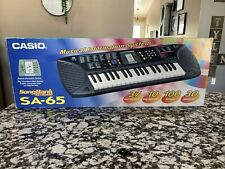 New Vintage Casio SA-65 Electronic Song Bank Keyboard w/ Box - Free Shipping
