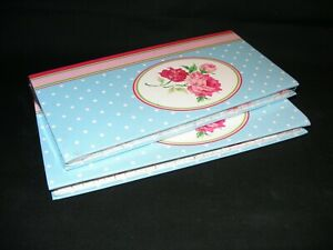 Two Lovely Rose Decorated New Address/Memo books