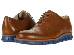 Men's Shoes Cole Haan ZEROGRAND WING Oxfords Leather C31167 MONKS ROBE / INDIGO