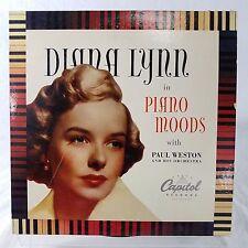 "Diana Lynn/Paul Weston Orchestra Piano Moods VG Vinyl TESTED 10"" 33 H180 1948"