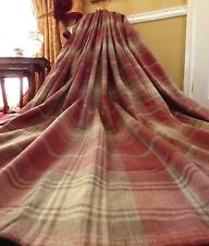 """NEXT Full Length Eyelet Curtains Red Stirling Country Woven Check 90""""w x 90""""D"""