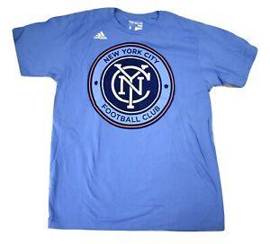 MLS Mens NYCFC New York City FC Football Club Ultimate Tee Shirt New S, M, L