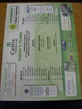 22/08/2001 Colour Teamsheet: Celtic v Ajax [Champions League] . Bobfrankandelvis