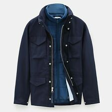 TIMBERLAND Snowdon Peak 3in1 M65 Jacket, Navy, Small, Brand New With Tags