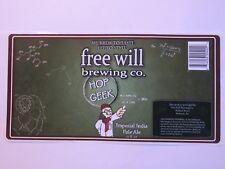Bier Aufkleber Label~Gratis Wird Gär Co Hop Geek Imperial Ipa ~ ~ Pennsylvania