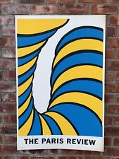 1965 Signed Abstract Pop Art Print. The Paris Review By Nicholas  Krushenick