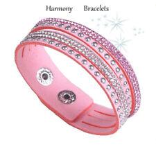 Baby Pink Swarovski Elements Slim Bracelet by Harmony Bracelets