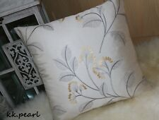 """JOHN LEWIS """"Grace"""" Elegant Gorgeous Cushion Cover Embroidered Floral Fabric 16"""""""