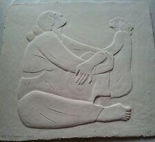 """RC Gorman Paper Sculpture, """"Two Women"""" Artist Proof 1987 Edition of 150 Handmade"""