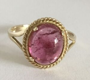 9 Carat Gold, Pink Tourmaline Ring.