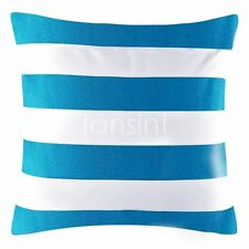 "Blue White Stripe Pattern Cotton Throw PillowCase Decor Cushion Covers 18""x45cm"